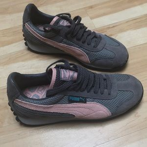Puma sneakers gray & pink never been worn